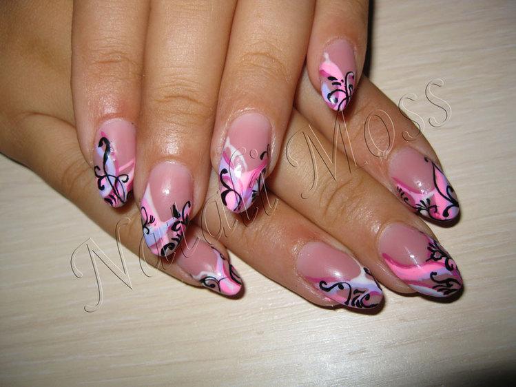Фото крупно рисунки на ногтях