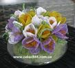 Букеты, цветы, деревья бонсай из бисера.