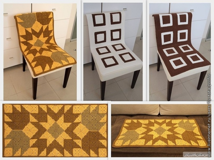 Связать для стульев накидки