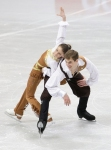 GANGNEUNG, SOUTH KOREA - MARCH 02:  Julia Lavrentieva and Yuri Rudik of Ukraine compete in the Pair Short on day three of the 2011 World Junior Figure Skating Championships at Gangneung International Ice Rink on March 2, 2011 in Gangneung, South Korea.  (
