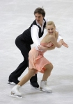 GANGNEUNG, SOUTH KOREA - MARCH 02:  Anastasia Galyeta and Alexis Shumski of Ukraine compete in the Ice Dance Short Dance on day three of the 2011 World Junior Figure Skating Championships at Gangneung International Ice Rink on March 2, 2011 in Gangneung,