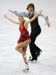GANGNEUNG, SOUTH KOREA - MARCH 02:  Ekaterina Pushkash and Jonathan Guerreiro of Russia compete in the Ice Dance Short Dance on day three of the 2011 World Junior Figure Skating Championships at Gangneung International Ice Rink on March 2, 2011 in Gangneu