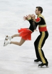 GANGNEUNG, SOUTH KOREA - MARCH 03:  Cassie Andrews and Timothy Leduc of United States compete in the Pairs Free on day four of the 2011 World Junior Figure Skating Championships at Gangneung International Ice Rink on March 3, 2011 in Gangneung, South Kore