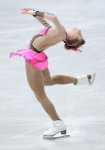 GANGNEUNG, SOUTH KOREA - MARCH 04:  Ira Agnes Zawadzki of the United States competes in the Ladies Short on day five of the 2011 World Junior Figure Skating Championships at Gangneung International Ice Rink on March 4, 2011 in Gangneung, South Korea.  (Ph