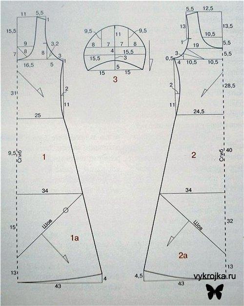 Трикотажные блузки. выкройки летних платьев 2011 для полных.