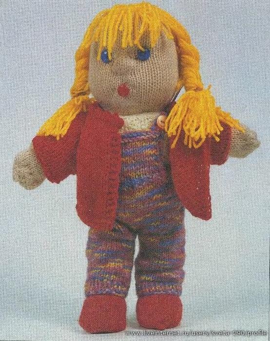 Описание: Вязанная кукла