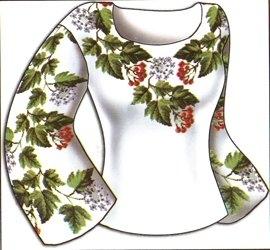 1. Схема для вышивки вышиванки.  Вышиванка.
