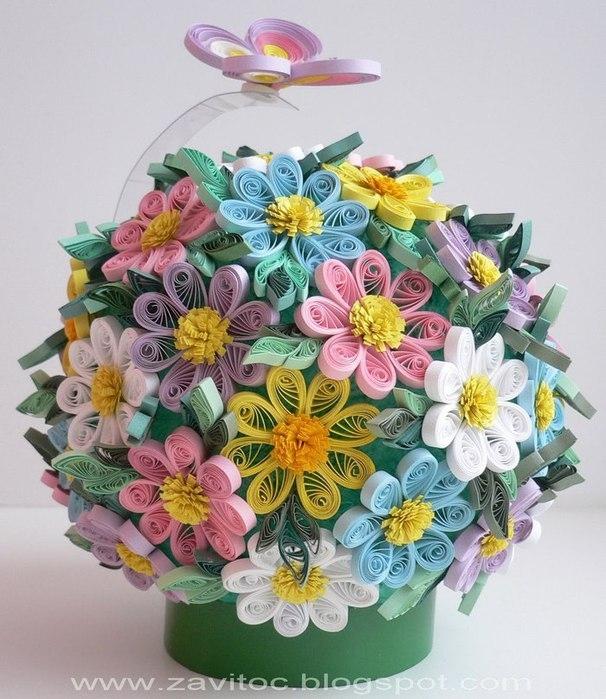 Уроки квиллинга, бумагокручение для начинающих - как сделать открытки, поделки, цветы.