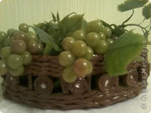 Вот такая получилась ваза для фруктов или для хлеба.
