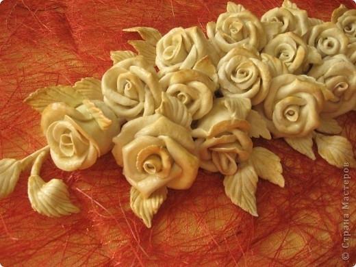 Роза из соленого теста пошаговое