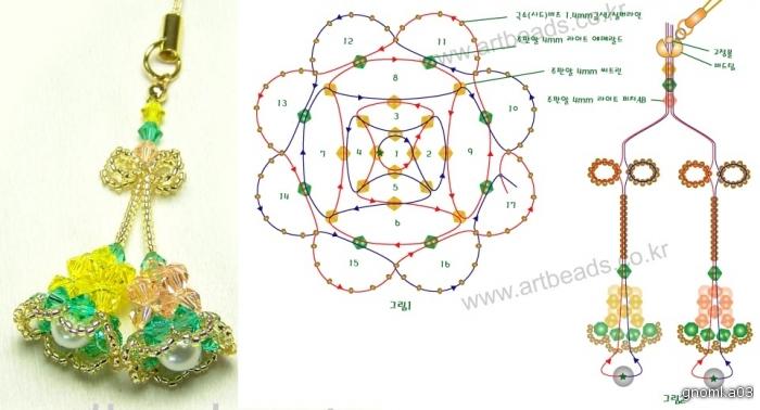 брелок из бисера схема - Всемирная схемотехника.