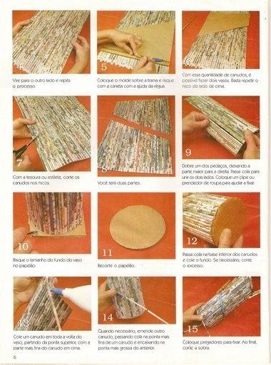 Уроки плетения из газет