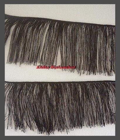 Теперь можно приклеивать или пришить к кукольной голове и расчёсывать. Совсем забыла: для вязания ставлю сразу 3 бобины, так волосы получаются гуще и красивей.