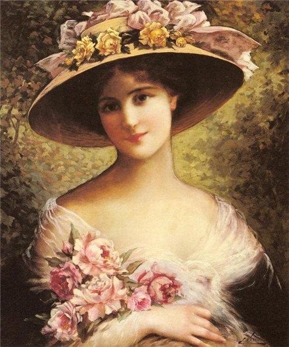 Дама с цветами картинки 6