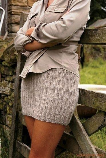 Мини юбки спицы схема