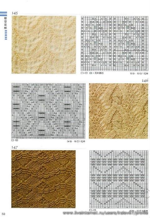 Описание: вязаные узоры и схемы спицами вязание.