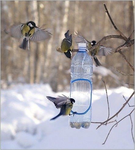Саму кормушку для птичек сделать очень просто, эстетика.