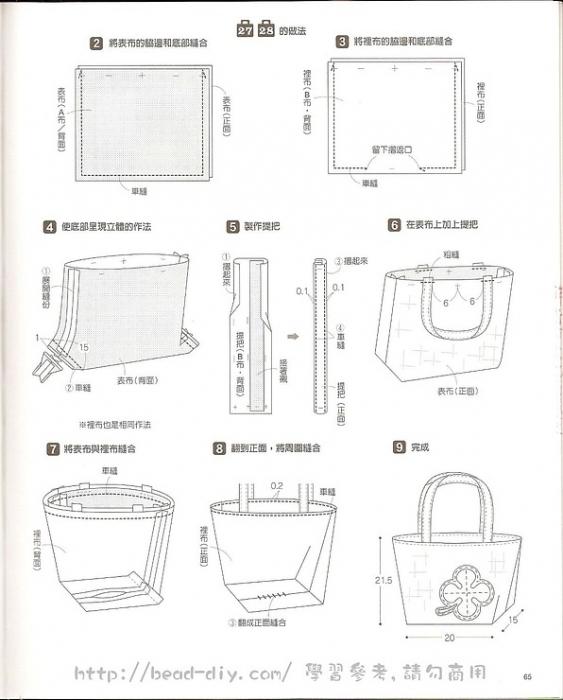 Выкройка сумок