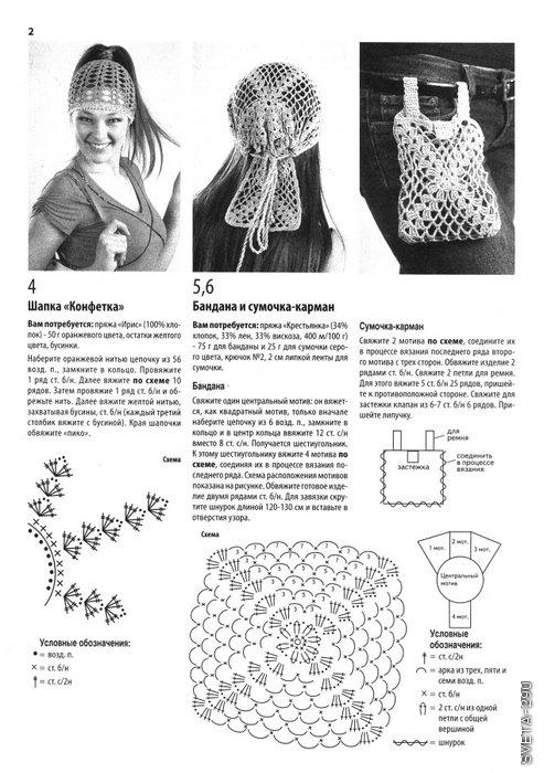 вязаной ободок схема шапки