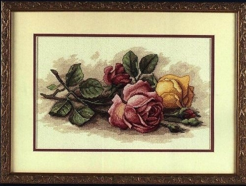 Срезанные розы.
