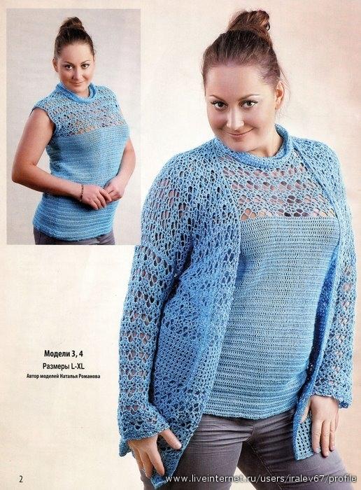 вязание для полных женщин спицами.