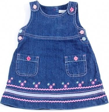 Как ребенку сшить джинсовый сарафан