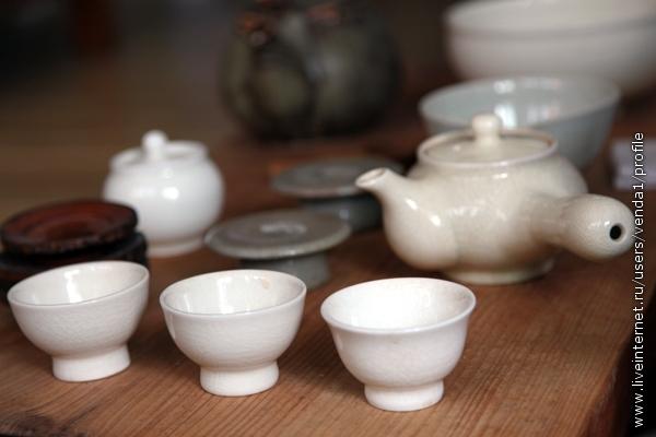Вот так выглядит селадоновый чайный корейский сервиз.