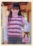 Вязание спицами для детей жилетки-модель.