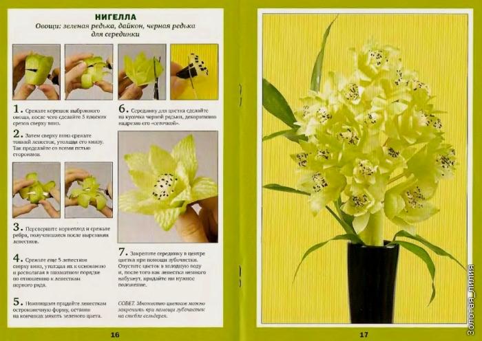 Как сделать цветы из овощей и фруктов своими руками