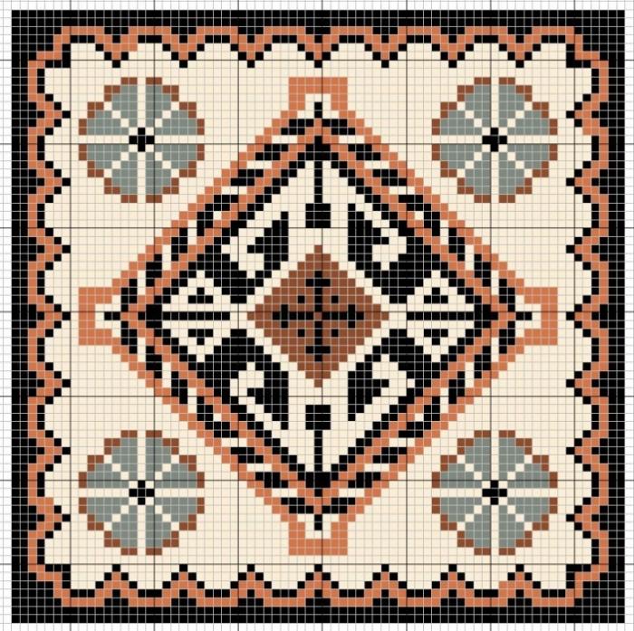 Вышивка подушек крестом