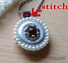 Close medallion and a needle and thread, make a small stitch. Thus, the medallion will not pass the buck with a chain. On top of the cap can attach any decoration.