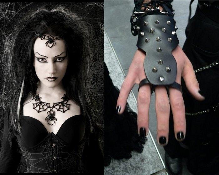 Как бы ни развивалась готика, остаются два неизменных основных элемента: преобладающий чёрный цвет одежды...