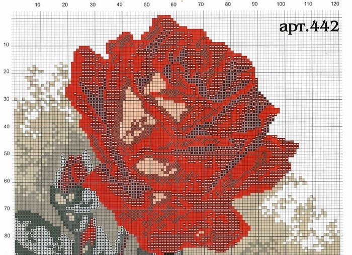 embroidered pictures: rose cross stitch kits