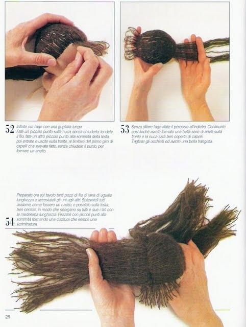 Как сделать волос для куклы из капрона