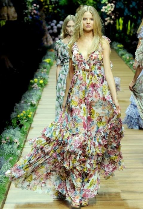 Цветочное платье фото 4