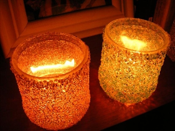 unity candles for holiday: beaded candlesticks