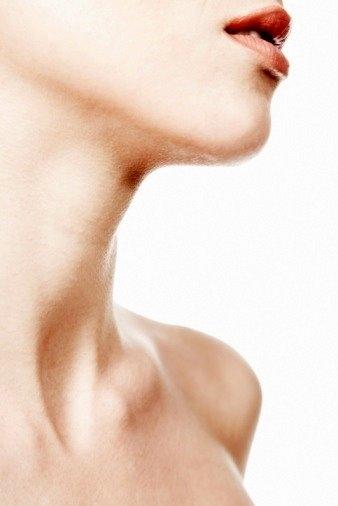 s bare neck