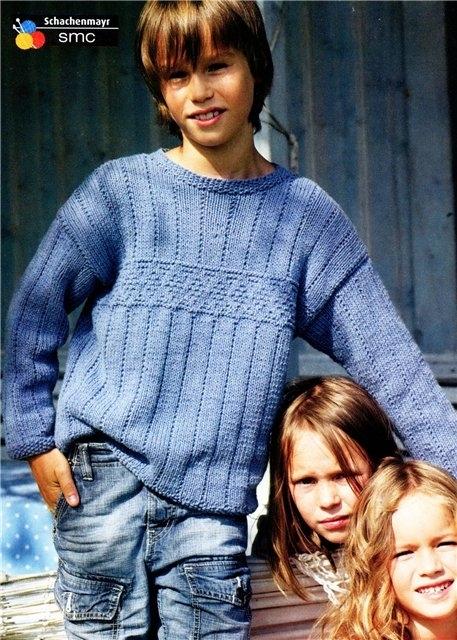 Пуловер для подростка вязание 92