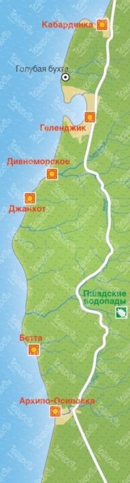 Скала Парус расположена на берегу Черного моря, в 17 км к юго-востоку от Геленджика (2 км. от хутора Джанхот), возле Прасковеевской щели. Скала Парус является памятником природы.