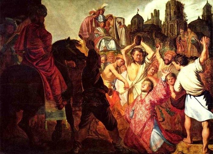 Побиение камнями святого Стефана   Год создания  1625