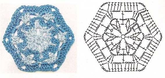Узоры для вязания из белых ниток 193