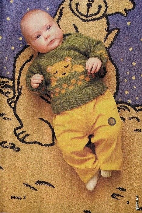 Вяжем мишку мальчику до года