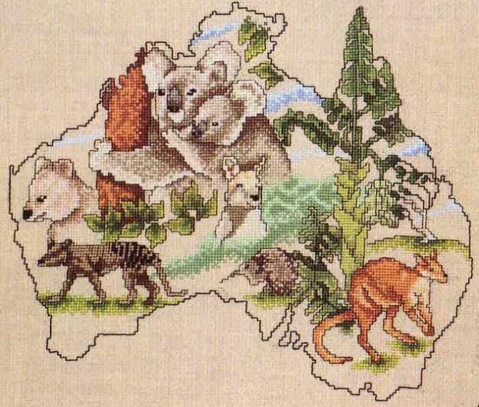 Запросу животный мир австралии карта
