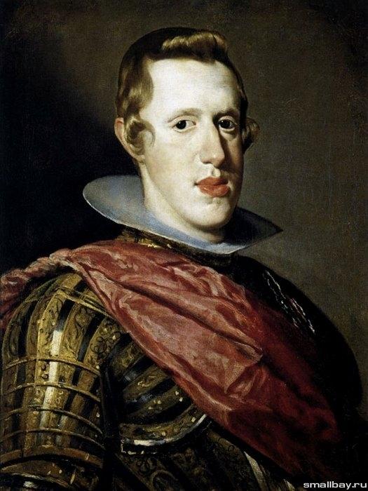 Портрет короля Испании Филиппа IV в доспехах