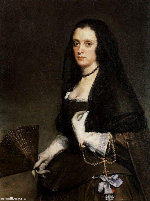 Портрет дамы с веером 1640