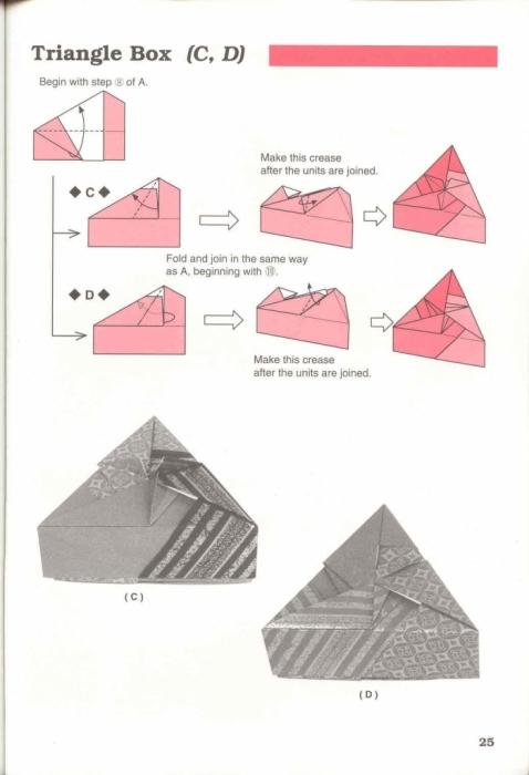 схема треугольной коробочки
