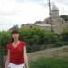На фоне действующей церквушки в исторической части Феодосии