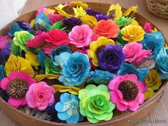 Поделки своими руками цветы из материала своими руками