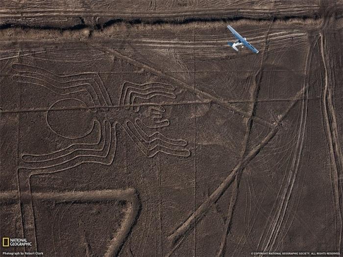 Figures Naska.Peru desert.