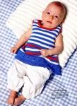 Журнал посвящен вязанию одежды для малышей в возрасте от 0 до 2 лет.  Пуловеры, жакеты, сарафаны, платья, безрукавки...